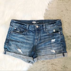 Old Navy Distressed Cuffed Jean Shorts